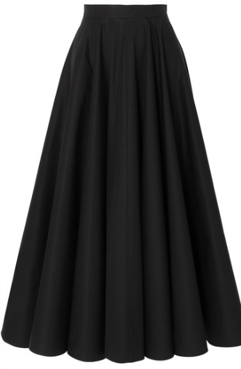 ALAÏA PLEATED COTTON-TWILL MIDI SKIRT
