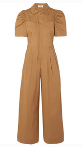 SEA SIENNA COTTON-POPLIN JUMPSUIT