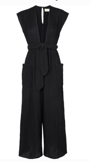 MARA HOFFMAN WHITNEY ORGANIC COTTON-CREPON JUMPSUIT