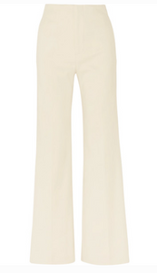 KIRK STRETCH COTTON-BLEND WIDE-LEG PANTS