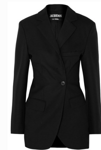 JACQUEMUS COSTUME GATHERED WOOL BLAZER