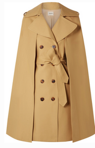 KHAITE DONNA CAPE-EFFECT COTTON-TWILL TRENCH COAT