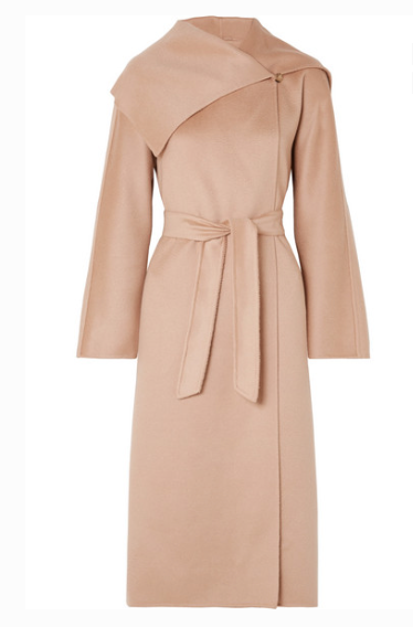 Max Mara - Gail Belted Cashmere Coat - Pastel pink