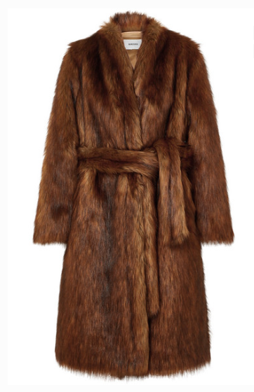 Nanushka - Oversized Faux Fur Coat - Brown