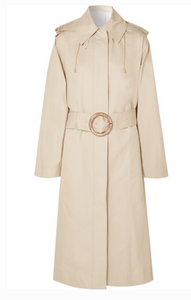 Joseph - Carbon Hooded Cotton-garbardine Trench Coat - Beige