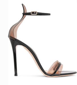 Gianvito Rossi GIANVITO ROSSI 105 PATENT-LEATHER AND PVC SANDALS