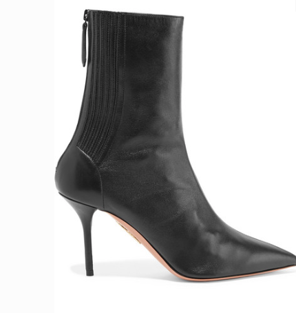 Aquazzura SAINT HONORÉ 85 LEATHER SOCK BOOTS