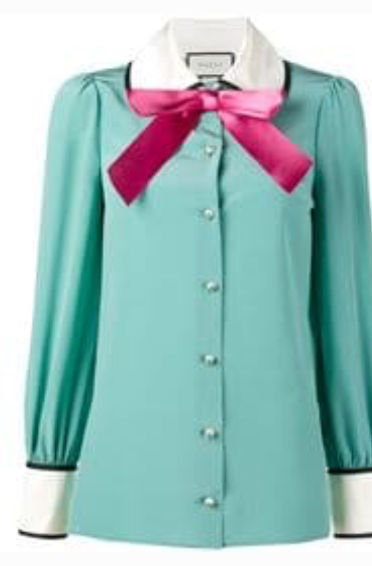 Gucci Silk Pussy Bow Blouse