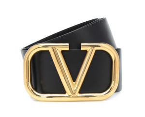 Valentino Leather V Belt