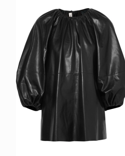 Valentino GATHERED LEATHER TOP