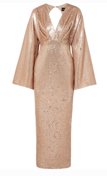 RASARIO SEQUINED CREPE GOWN