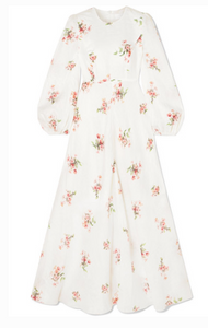 ZIMMERMANN HEATHERS FLORAL-PRINT COTTON-VOILE MAXI DRESS