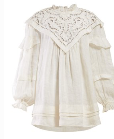 ISABEL MARANT  Ghalia lace-panel mini dress