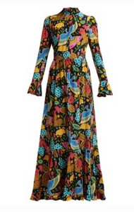 LA DOUBLEJ  Visconti Colombo-print silk dress