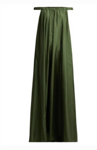 THREE GRACES LONDON  Evangeline off-the-shoulder silk-satin maxi dress