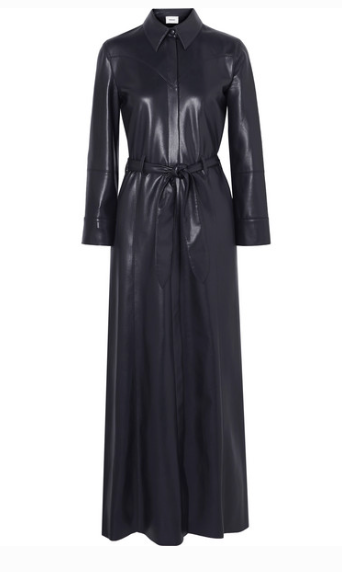NANUSHKA TAURUS VEGAN LEATHER MAXI DRESS