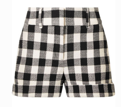 VERONICA BEARD CARITO GINGHAM COTTON-BLEND SHORTS