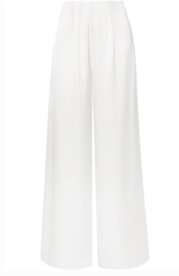 LES HEROINES THE COCO SATIN WIDE-LEG PANTS