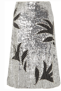 DODO BAR OR CLARA EMBELLISHED SEQUINED TULLE SKIRT