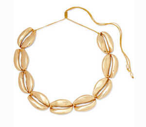 TOHUM Mega Puka gold-plated necklace