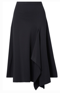 ROSETTA GETTY DRAPED STRETCH-JERSEY MIDI SKIRT