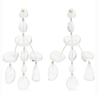 CULT GAIA Sloane Rock oversized acrylic earrings