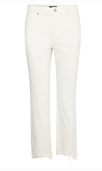 RTA Luke frayed high-rise straight-leg jeans