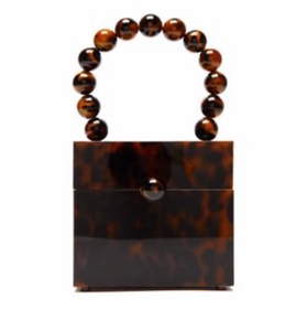 CULT GAIA  Eos tortoiseshell-effect beaded box bag