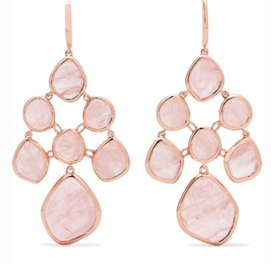 MONICA VINADER Siren Chandelier rose gold vermeil quartz earring