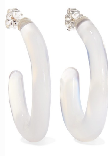 LEIGH MILLER Opaline glass hoop earrings