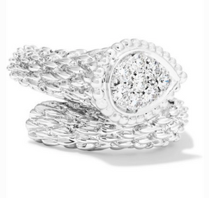 BOUCHERON Serpent Bohème 18-karat white gold diamond ring