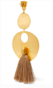 JOHANNA ORTIZ + Paula Mendoza & Cano A Taste of Spring fringed gold-tone earrings