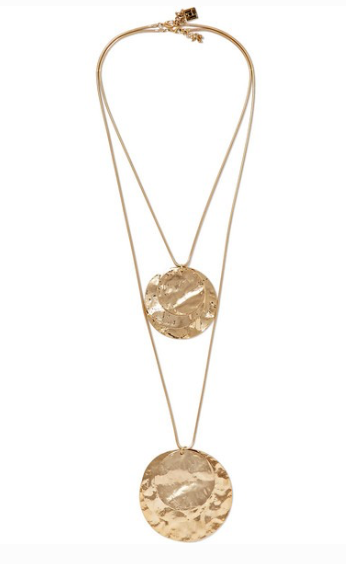 ROSANTICA Hammered gold-tone necklace