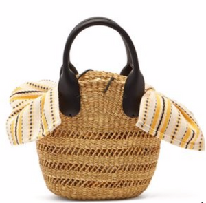 MUUÑ  Mini Tina woven straw basket bag