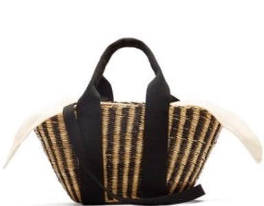 MUUÑ  Mini Ava straw basket bag