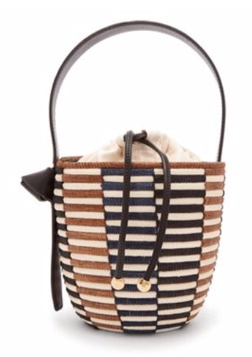 CESTA COLLECTIVE  Checkerboard sisal basket bag