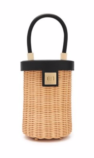 SPARROWS WEAVE  The Cylinder wicker and leather bag