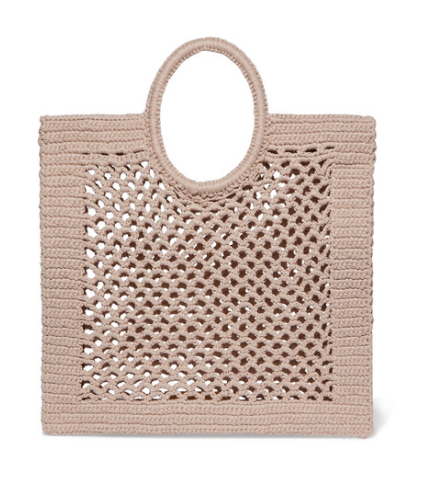 MIZELE Sunbath crocheted cotton-blend tote
