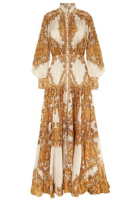 ZIMMERMANN Zippy printed silk maxi dress