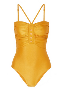 ZIMMERMANN Allia ruched metallic swimsuit