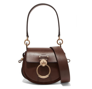 Chloé - Tess Small Leather And Suede Shoulder Bag - Brown