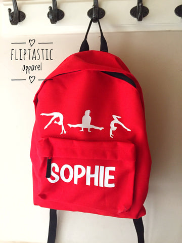 PERSONALISED GYMNAST BACKPACK