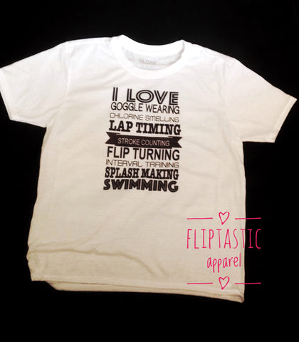 LAP TIMING SLOGAN SWIM T-SHIRT