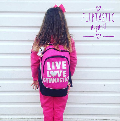 LIVE LOVE GYMNASTICS LARGE BACKPACK