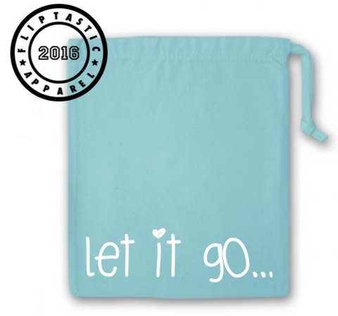 Gymnastics Grip bag with the words 'Let it go' written across the front. Can be personalised