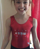Personalised metallic leotard