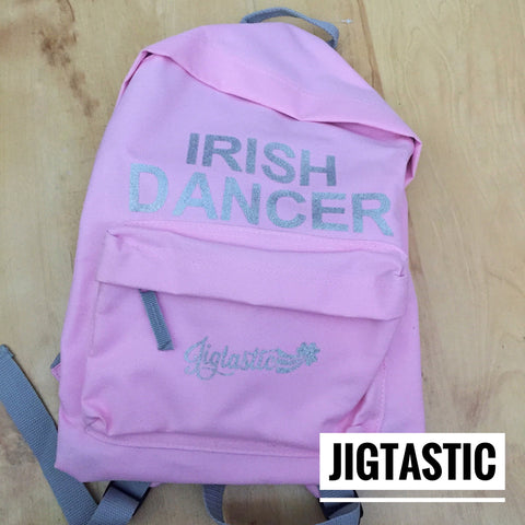 IRISH DANCER PINK / SILVER BACKPACK (Ready to ship)