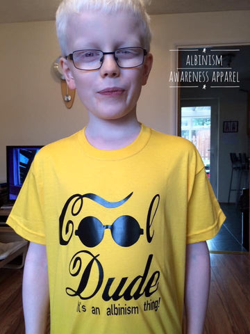 'Cool Dude' Albinsim Awareness T-Shirt