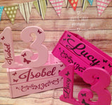 PERSONALISED SPARKLE BUTTERFLY & FLOWERS BIRTHDAY CRATE