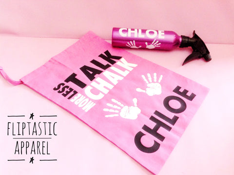 TALK CHALK PINK GRIP BAG
